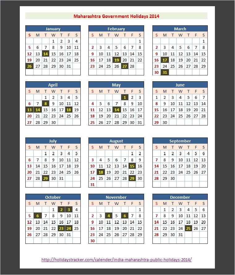 Maharashtra India Bank Holidays 2014 India Bank Holidays